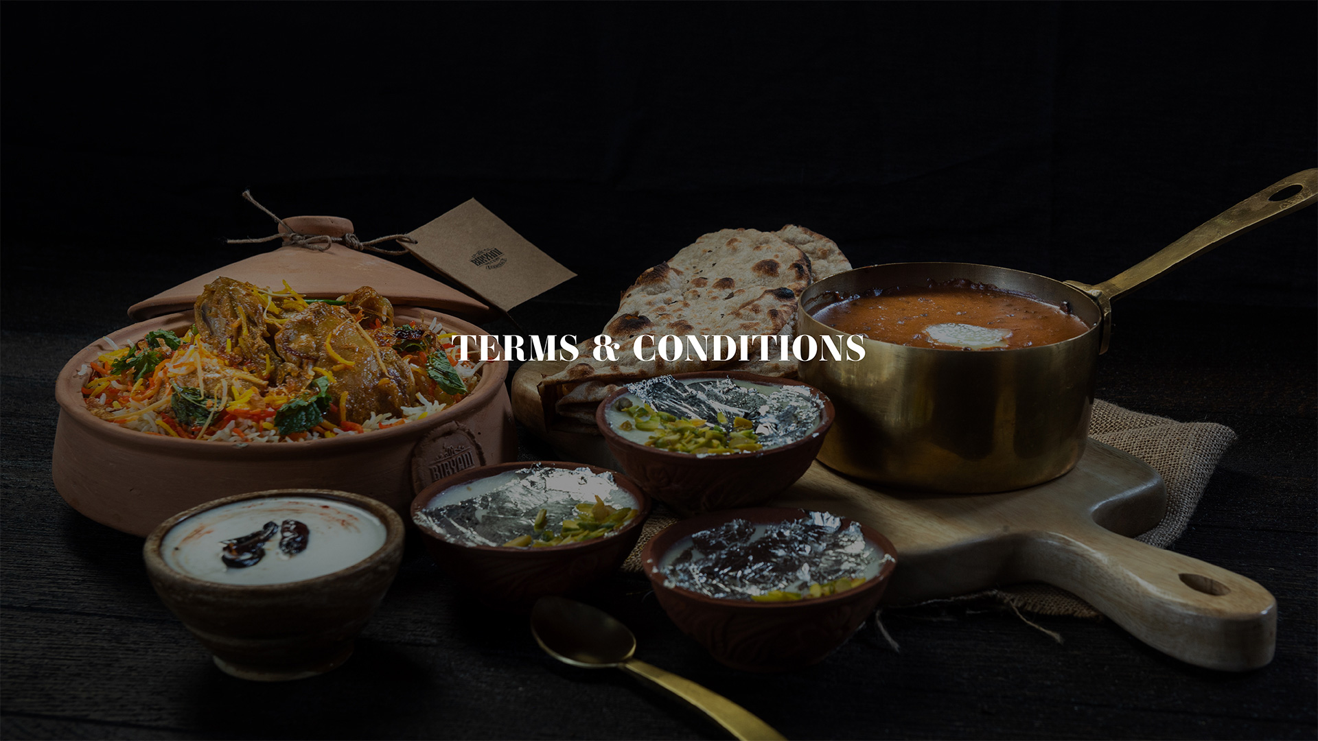 Biryani Central Terms & Condions
